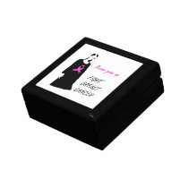 Fight breast cancer keepsake box