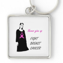 Fight breast cancer keychain
