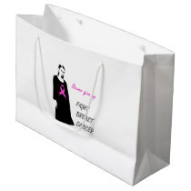 Fight breast cancer large gift bag