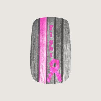 Fight Breast Cancer Minx Nail Art