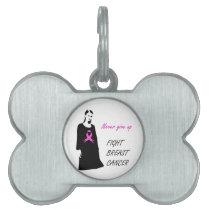 Fight breast cancer pet ID tag