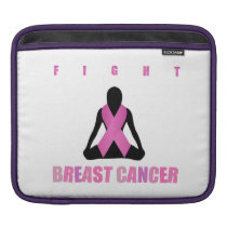 Fight breast cancer- pink ribbon on a womans body iPad sleeve