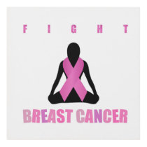 Fight breast cancer- pink ribbon on a womans body panel wall art