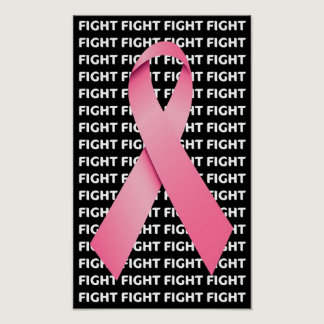 Fight Breast Cancer Pink Ribbon Poster