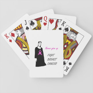 Fight breast cancer playing cards