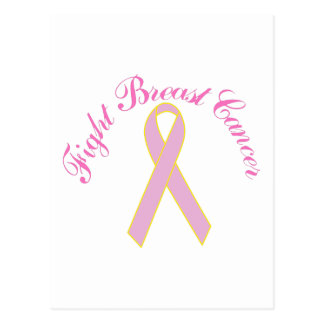 Fight Breast Cancer Postcard