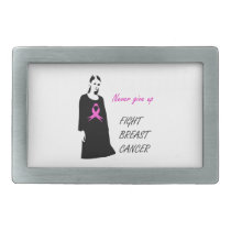 Fight breast cancer rectangular belt buckle