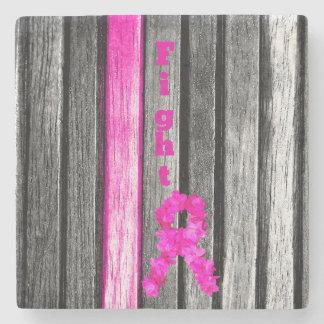Fight Breast Cancer Stone Coaster