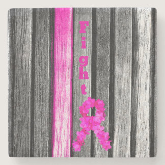 Fight Breast Cancer Stone Coaster