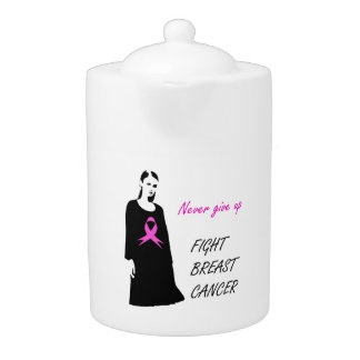 Fight breast cancer teapot