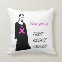 Fight breast cancer throw pillow