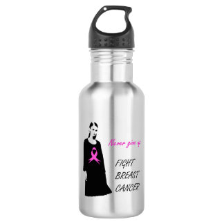 Fight breast cancer water bottle