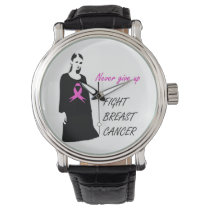 Fight breast cancer wrist watch