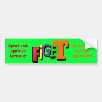 FIGHT Bumper Sticker Car Bumper Sticker
