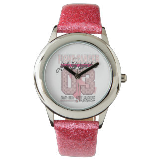 Fight Cancer Designer Watch - Breast Cancer Awaren