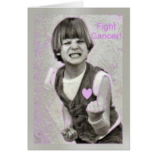 Fight Cancer encouragemet Card