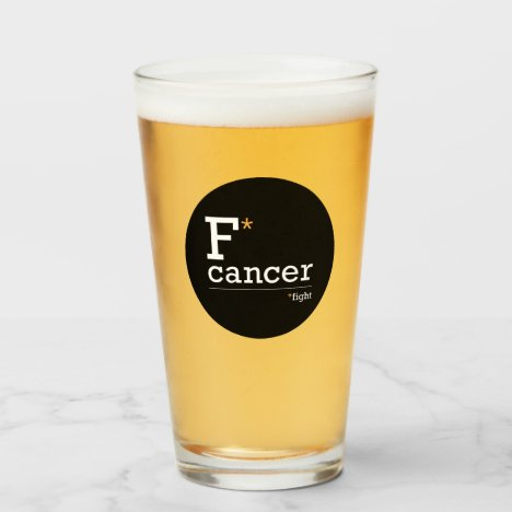fight cancer glass