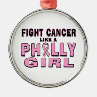 Fight Cancer Like a Philly Girl Ornament