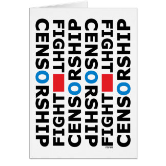 Fight Censorship Greeting Card