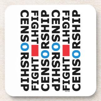 Fight Censorship Drink Coaster