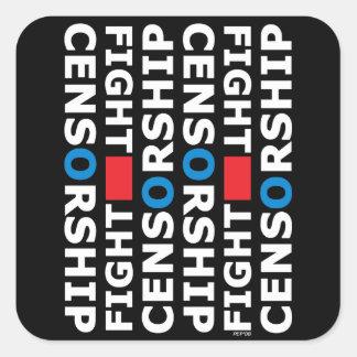 Fight Censorship Square Sticker