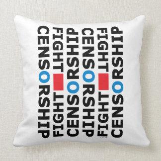 Fight Censorship Throw Pillow