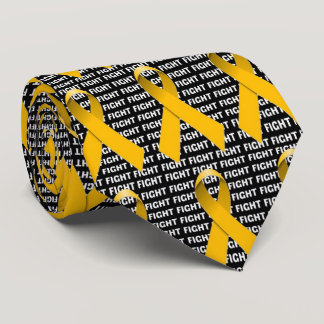 Fight Childhood Cancer Gold Ribbon Neck Tie