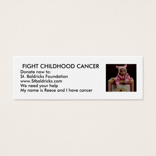 Fight Childhood Cancer Mini Business Card