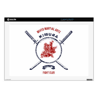 "Fight Club Grunge print with samurai swords 17"" Laptop Decal"