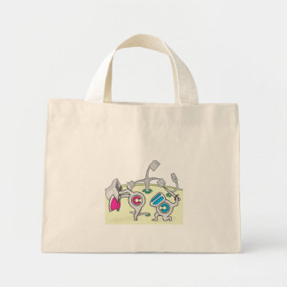 Fight copyright and copyleft mini tote bag