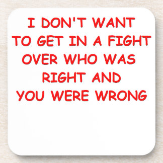 fight drink coasters