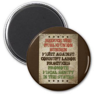 Fight Corrupt Labor 2 Inch Round Magnet