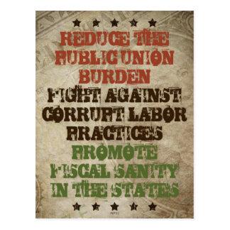 Fight Corrupt Labor Postcard