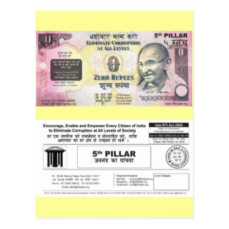 Fight Corruption Post Card