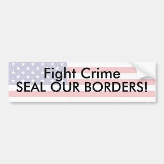 Fight Crime Car Bumper Sticker