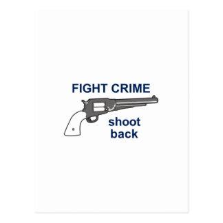 FIGHT CRIME POSTCARD