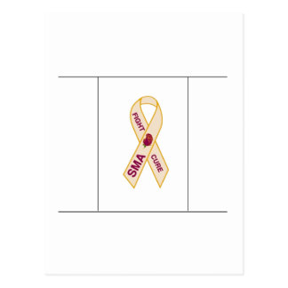 Fight Cure SMA - Ribbon Postcard