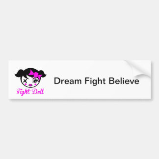 Fight Doll Bumper Sticker