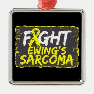 Fight Ewing Sarcoma Square Metal Christmas Ornament