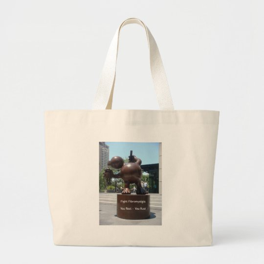Fight Fibro Large Tote Bag