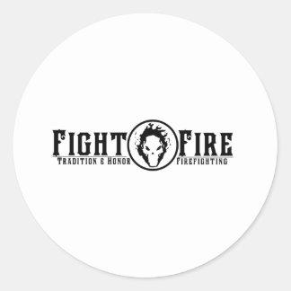 Fight Fire Classic Round Sticker