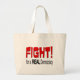 Fight for a Real Democracy Canvas Bags