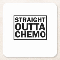 Fight For Cancer Chemo Fight s Cancer Awareness Square Paper Coaster