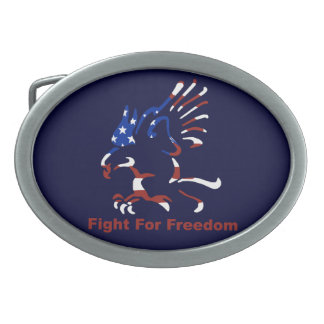 Fight For Freedom Eagle Belt Buckle