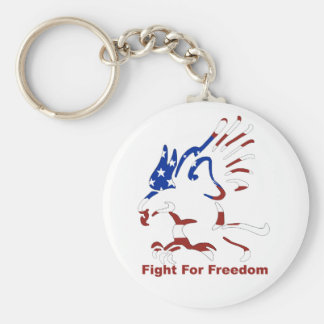 Fight For Freedom Eagle Keychain