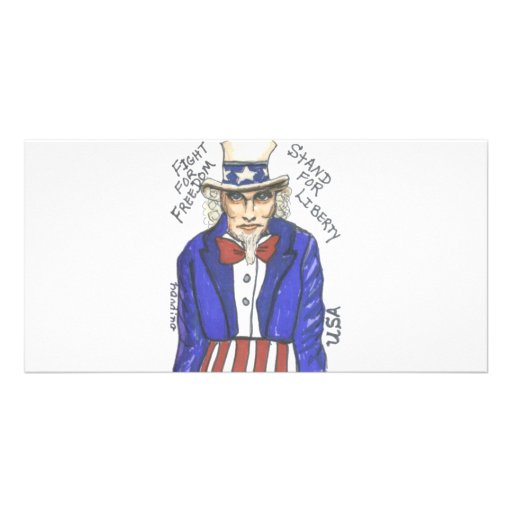 Fight for Freedom Stand for Liberty Picture Card