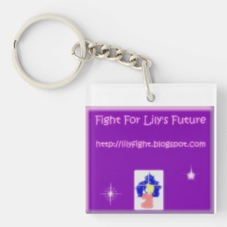 Fight For Lily's Future Single-Sided Square Acrylic Keychain