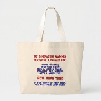 Fight For Rights Canvas Bags
