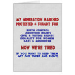 Fight For Rights Greeting Cards