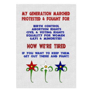 Fight For Rights Large Business Card